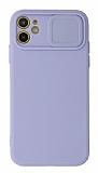 Eiroo Liquid Camera iPhone 11 Kamera Korumalı Mor Kılıf