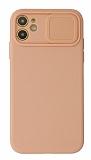 Eiroo Liquid Camera iPhone 11 Kamera Korumalı Pembe Kılıf
