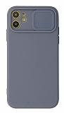 Eiroo Liquid Camera iPhone 11 Kamera Korumalı Gri Kılıf
