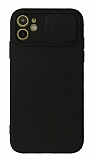 Eiroo Liquid Camera iPhone 11 Kamera Korumalı Siyah Kılıf