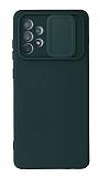 Eiroo Liquid Camera Samsung Galaxy A52 5G Kamera Korumalı Yeşil Kılıf