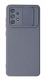 Eiroo Liquid Camera Samsung Galaxy A52 5G Kamera Korumalı Gri Kılıf