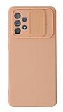 Eiroo Liquid Camera Samsung Galaxy A52 5G Kamera Korumalı Pembe Kılıf