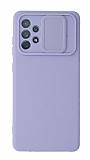 Eiroo Liquid Camera Samsung Galaxy A52 5G Kamera Korumalı Mor Kılıf