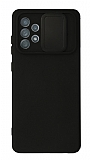 Eiroo Liquid Camera Samsung Galaxy A52 5G Kamera Korumalı Siyah Kılıf