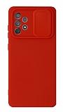 Eiroo Liquid Camera Samsung Galaxy A52 5G Kamera Korumalı Kırmızı Kılıf