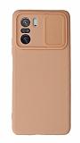 Eiroo Liquid Camera Xiaomi Poco F3 Kamera Korumalı Pembe Kılıf