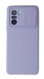 Eiroo Liquid Camera Xiaomi Poco F3 Kamera Korumalı Mor Kılıf