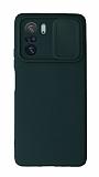 Eiroo Liquid Camera Xiaomi Poco F3 Kamera Korumalı Yeşil Kılıf