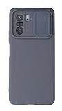 Eiroo Liquid Camera Xiaomi Poco F3 Kamera Korumalı Gri Kılıf