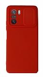Eiroo Liquid Camera Xiaomi Poco F3 Kamera Korumalı Kırmızı Kılıf