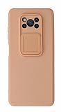 Eiroo Liquid Camera Xiaomi Poco X3 Pro Kamera Korumalı Pembe Kılıf