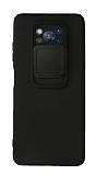 Eiroo Liquid Camera Xiaomi Poco X3 Pro Kamera Korumalı Siyah Kılıf