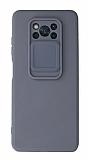 Eiroo Liquid Camera Xiaomi Poco X3 Pro Kamera Korumalı Gri Kılıf