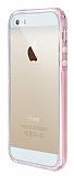 Eiroo Liquid Hybrid iPhone 5 / 5S Rose Gold Kenarl� �effaf Silikon K�l�f