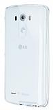 Eiroo Liquid Hybrid LG G3 Silver Kenarlı Şeffaf Silikon Kılıf