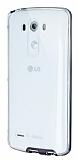 Eiroo Liquid Hybrid LG G3 Siyah Kenarlı Şeffaf Silikon Kılıf