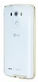 Eiroo Liquid Hybrid LG G3 S / G3 Beat Gold Kenarlı Şeffaf Silikon Kılıf