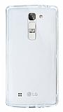 Eiroo Liquid Hybrid LG G4c Silver Kenarlı Şeffaf Silikon Kılıf