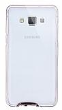 Eiroo Liquid Hybrid Samsung Galaxy A5 Rose Gold Kenarlı Şeffaf Silikon Kılıf