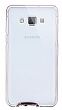 Eiroo Liquid Hybrid Samsung Galaxy A7 Rose Gold Kenarlı Şeffaf Silikon Kılıf