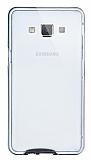 Eiroo Liquid Hybrid Samsung Galaxy A7 Siyah Kenarlı Şeffaf Silikon Kılıf