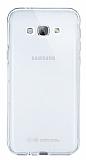 Eiroo Liquid Hybrid Samsung Galaxy A8 Silver Kenarl� �effaf Silikon K�l�f