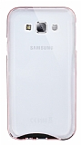 Eiroo Liquid Hybrid Samsung Galaxy E5 Rose Gold Kenarlı Şeffaf Silikon Kılıf