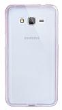 Eiroo Liquid Hybrid Samsung Galaxy Grand Prime / Prime Plus Rose Gold Kenarlı Şeffaf Silikon Kılıf