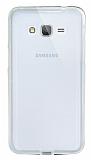Eiroo Liquid Hybrid Samsung Galaxy Grand Prime Gold Kenarlı Şeffaf Silikon Kılıf