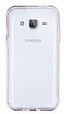 Eiroo Liquid Hybrid Samsung Galaxy J2 Rose Gold Kenarlı Şeffaf Silikon Kılıf