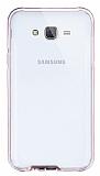 Eiroo Liquid Hybrid Samsung Galaxy J5 Rose Gold Kenarlı Şeffaf Silikon Kılıf