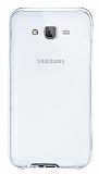 Eiroo Liquid Hybrid Samsung Galaxy J5 Silver Kenarlı Şeffaf Silikon Kılıf