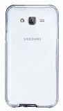 Eiroo Liquid Hybrid Samsung Galaxy J7 Siyah Kenarlı Şeffaf Silikon Kılıf