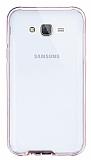 Eiroo Liquid Hybrid Samsung Galaxy J7 / Galaxy J7 Core Rose Gold Kenarlı Şeffaf Silikon Kılıf