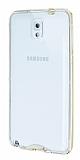 Eiroo Liquid Hybrid Samsung N9000 Galaxy Note 3 Gold Kenarl� �effaf Silikon K�l�f
