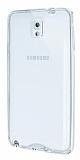 Eiroo Liquid Hybrid Samsung N9000 Galaxy Note 3 Silver Kenarl� �effaf Silikon K�l�f