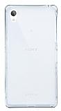 Eiroo Liquid Hybrid Sony Xperia Z2 Silver Kenarlı Şeffaf Silikon Kılıf