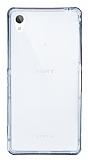 Eiroo Liquid Hybrid Sony Xperia Z2 Siyah Kenarlı Şeffaf Silikon Kılıf