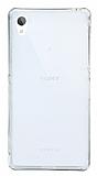 Eiroo Liquid Hybrid Sony Xperia Z2 Gold Kenarlı Şeffaf Silikon Kılıf