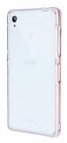 Eiroo Liquid Hybrid Sony Xperia Z3 Rose Gold Kenarlı Şeffaf Silikon Kılıf
