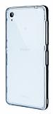Eiroo Liquid Hybrid Sony Xperia Z3 Siyah Kenarlı Şeffaf Silikon Kılıf