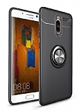 Eiroo Liquid Ring Huawei Mate 10 Lite Standlı Siyah Silikon Kılıf