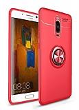 Eiroo Liquid Ring Huawei Mate 10 Lite Standlı Kırmızı Silikon Kılıf