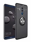 Eiroo Liquid Ring Huawei Mate 10 Pro Standlı Siyah Silikon Kılıf