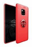 Eiroo Liquid Ring Huawei Mate 20 Pro Standlı Kırmızı Silikon Kılıf