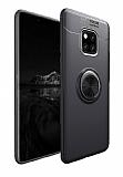 Eiroo Liquid Ring Huawei Mate 20 Pro Standlı Siyah Silikon Kılıf
