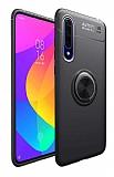 Eiroo Liquid Ring Huawei P Smart Pro 2019 Standlı Siyah Silikon Kılıf