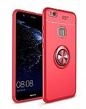 Eiroo Liquid Ring Huawei P10 Lite Standlı Kırmızı Silikon Kılıf