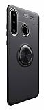 Eiroo Liquid Ring Huawei P30 Lite Standlı Rose Gold-Siyah Silikon Kılıf